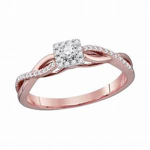 10kt rose gold womens round diamond solitaire twist bridal With womens wedding ring no diamond