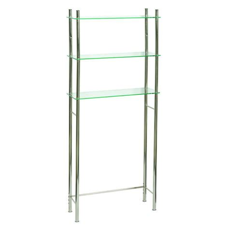 Brushed Nickel Etagere by Tuscany Verre The Toilet Spacesaver Shelf Brushed