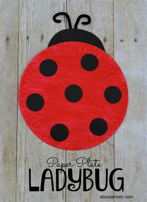 paper plate ladybug craft for bug activities 515 | 75551bf38ce1cf4d1526ff7d7e187c0d