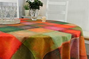 Abwaschbare Tischdecke Rund : abwaschbare tischdecke verwaschen pink orange batikus ab ~ Michelbontemps.com Haus und Dekorationen