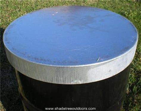 55 gallon drum deer feeder galvanized steel lid for 55 gal barrel deer feeder ebay
