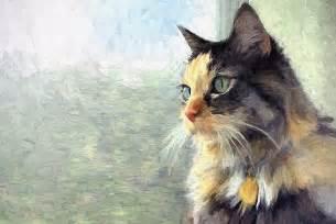 cat painting commission a portrait painting by artist joseph dea pet