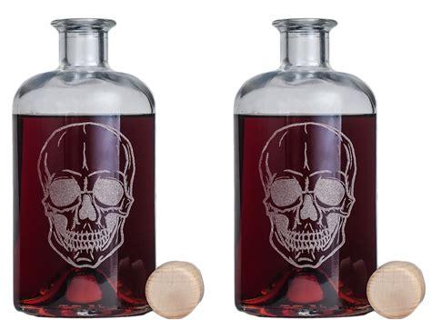 flasche gravur totenkopf coole flaschen