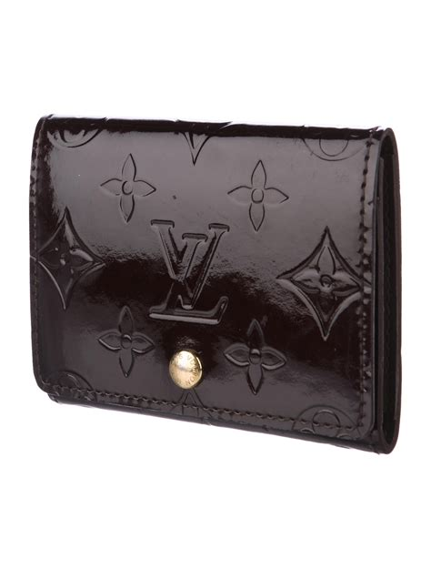 Maxgear business card holder, pu leather business card case pocket credit card holders, slim name card holder magnetic shut business card carrier for men or women, home & office, coffee. Louis Vuitton Vernis Business Card Holder - Accessories - LOU136927   The RealReal