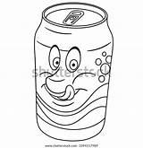 Soda Coloring Drink Cartoon sketch template