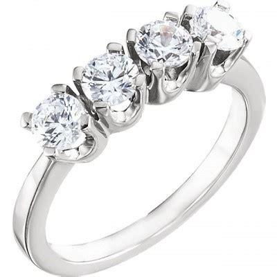 gold  ctw cz  stone weddinganniversary band ring