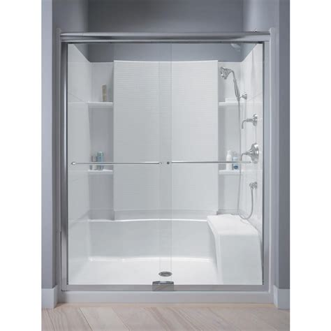 sterlingplumbing shower doors sterling finesse 57 1 2 in x 70 5 16 in semi frameless