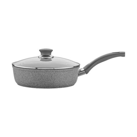 shop ballarini modena forged aluminum  qt nonstick saute pan  lid granite  sale