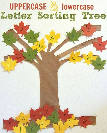 fall craft ideas for preschool activities amp book lists 489 | Letter Sorting Tree Alphabet For Starters