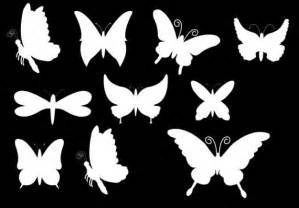 Black and White Butterfly Shape