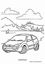 Coloring Pages Ford Focus Automobile Browser Window sketch template