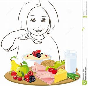 Healthy Eating Child - Illustration Stock Vector - Image ...