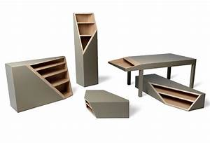 Cutline Collection of Wood Furniture by Alessandro Busana ...