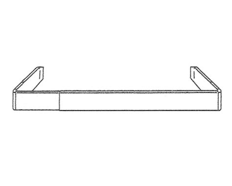 kirsch 28 48 inch fixed bracket continental ii curtain rod
