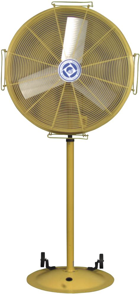 industrial stand up fan big hvls fans up to 24 39 diameter rice equipment co
