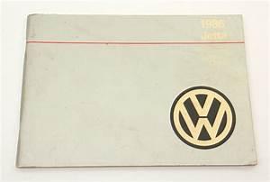 1986 Volkswagen Vw Jetta Owners Manual Book Mk2