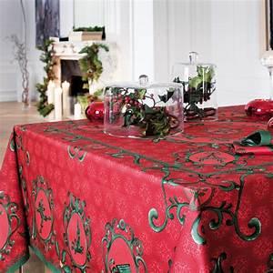 Nappe Papier Noel : nappe de table coton de no l rouge vert nappe winter carr e 170x170 cm beauvill ~ Melissatoandfro.com Idées de Décoration