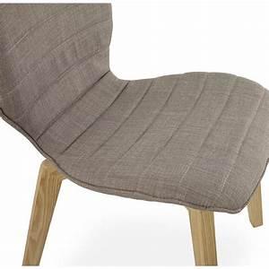 Chaise En Tissu Gris : chaise vintage style scandinave marty en tissu gris ~ Teatrodelosmanantiales.com Idées de Décoration