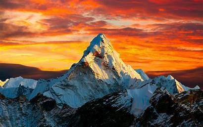 4k Sunset Mountains Himalayas Tibet Mountain Peaks