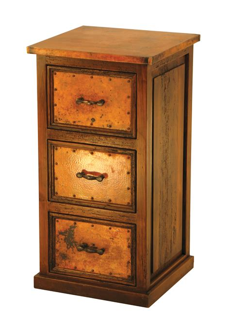 Cabinet Drawer Glides by 3 Drawer File Cabinet W Copper W Metal Drawer Glides
