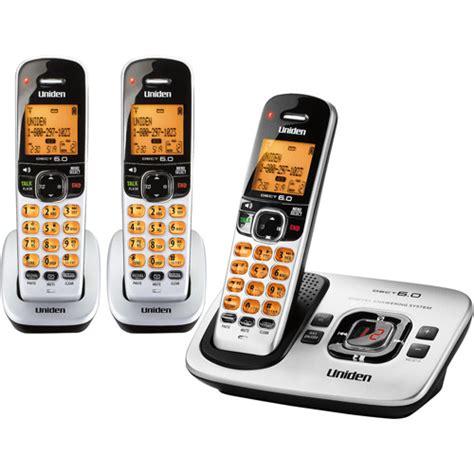uniden d1780 3 3 handset cordless phone silver walmart