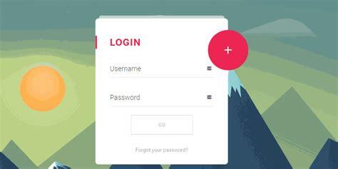 material design register login form