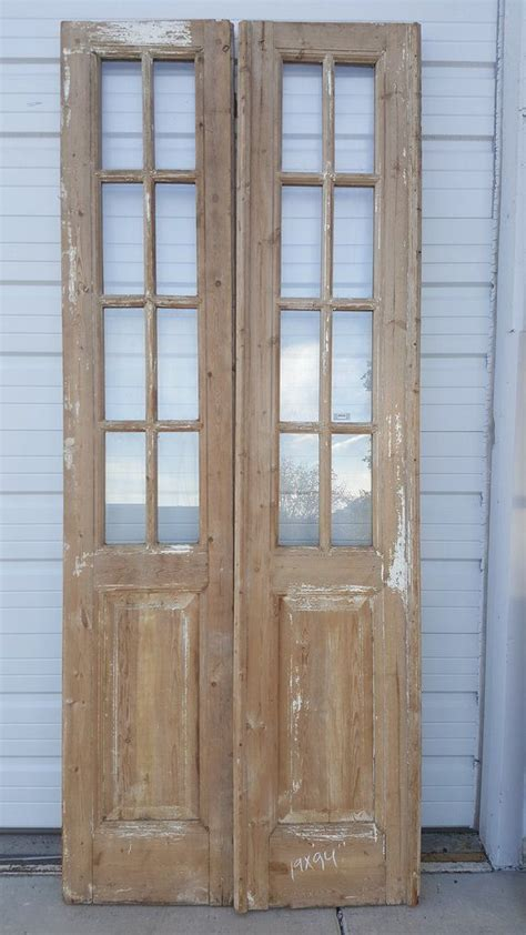 panel wood  glass french door pantry wood doors