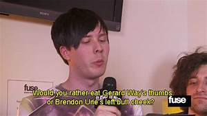 gerard way brendon urie fall out boy amazingphil ...