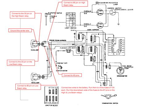 z tech tips electrical atlanticz ca datsun 240z headlight wiring diagram datsun 240 diagram