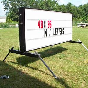 Illuminated changeable letter portable sign for Portable outdoor changeable letter signs