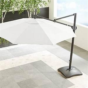 10 U0026 39  White Cantilever Umbrella