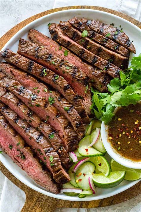 grilled flank steak asian inspired marinade