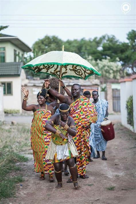 Groom On Route To The Traditional Ghanaian Knocking