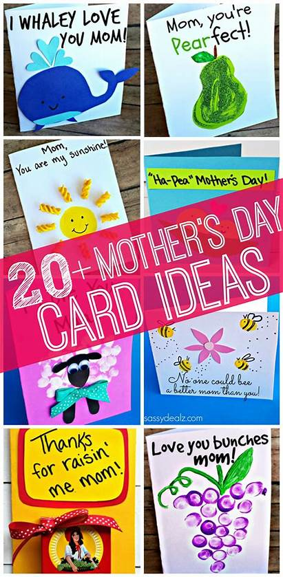 Crafts Mothers Cards Easy Mother Meaningful