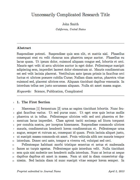 latex templates elseviers elsarticle document class