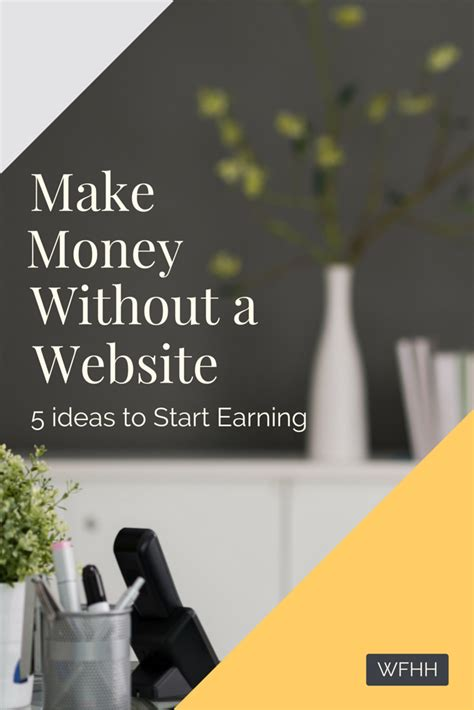 make money without a website