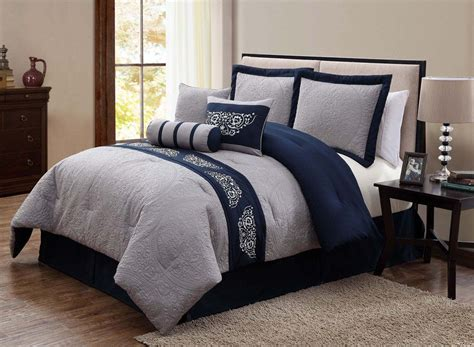 6068 navy blue and gray bedding navy blue and grey comforter set pinteres