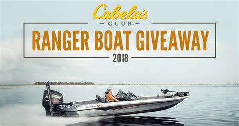 Cabela S Boat Giveaway by Cabela S Ranger Boat Giveaway 2018