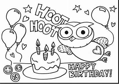 Coloring Birthday Pages Happy Printable Party