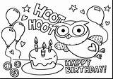 Birthday Coloring Pages Happy Printable Party Print sketch template
