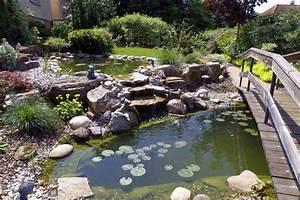 Jardin Avec Bassin : bassin de jardin avec pont walheim dans le sundgau ~ Melissatoandfro.com Idées de Décoration