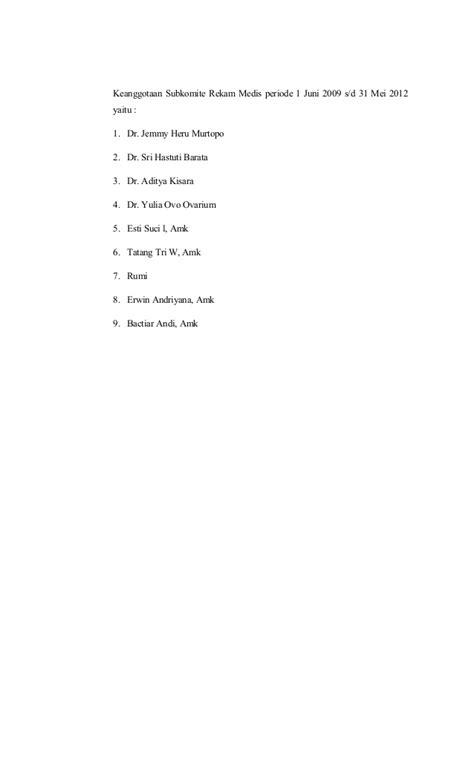 Contoh Formulir Rekam Medis - Contoh Yuk