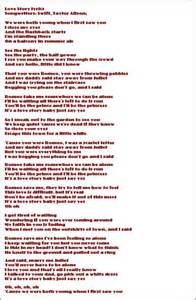 jolie blogs: taylor swift love story lyrics