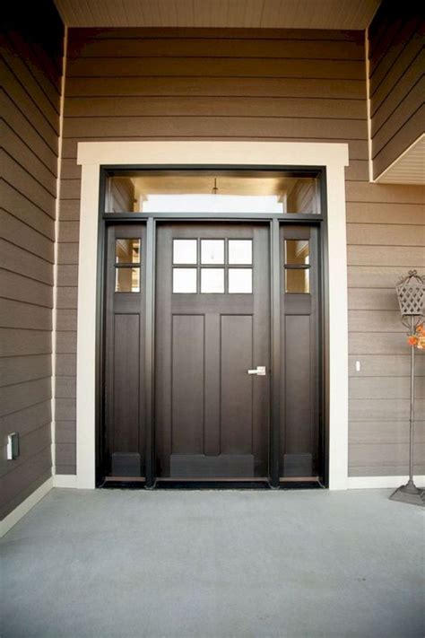 majestic  marvelous white trim  stained door ideas