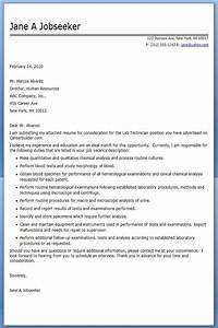 lab technician cover letter examples creative resume With sample cover letter for medical laboratory assistant
