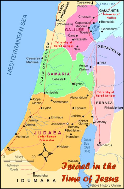 israel   time  jesus bible maps