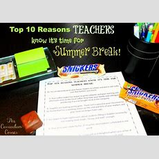 Top Ten Reasons Teachers Know It's Time For Summer Break  The Curriculum Corner 123