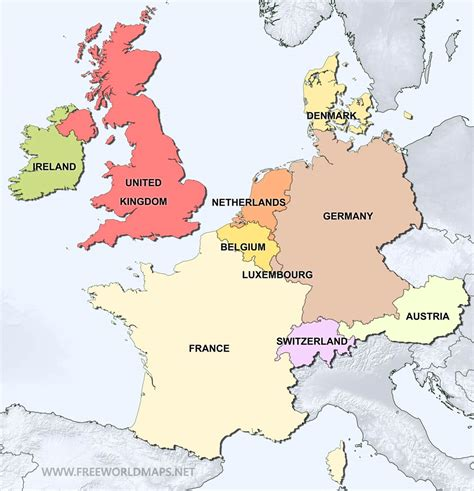 Europe Occidentale Carte by Western Europe Political Map