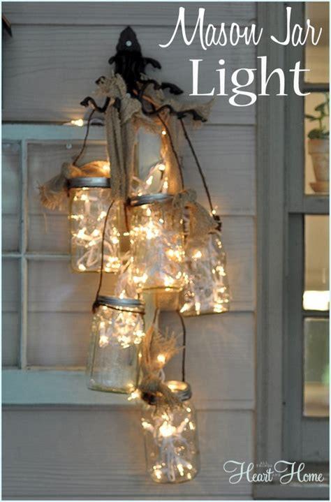 diy mason jar light   heart  home