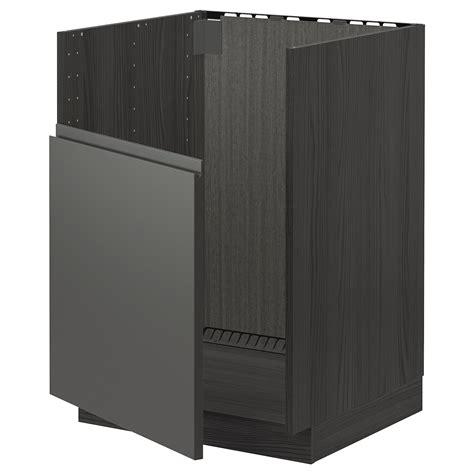 Voxtorp front for dishwasher ikea. METOD Base cabinet f BREDSJÖN sink - black, Voxtorp dark ...